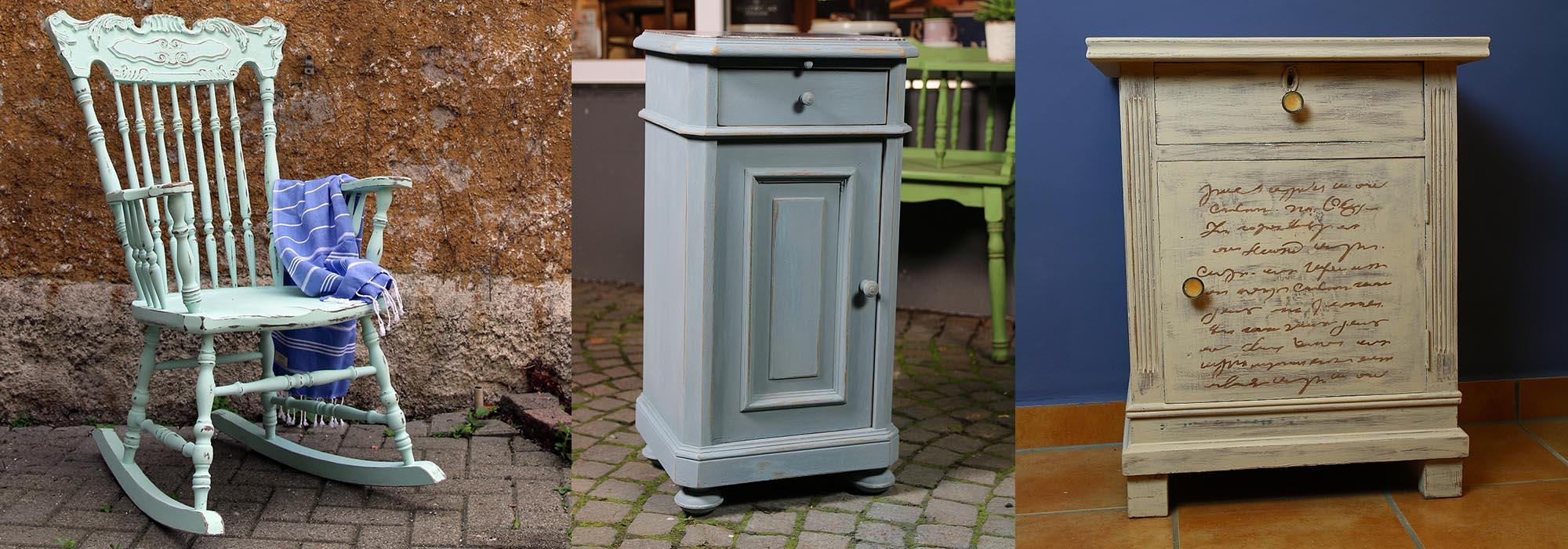Alte-Möbel-mit-Kreidefarbe-behandelt